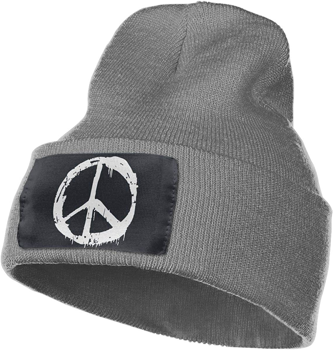 TAOMAP89 Peace Sign Men /& Women Skull Caps Winter Warm Stretchy Knit Beanie Hats