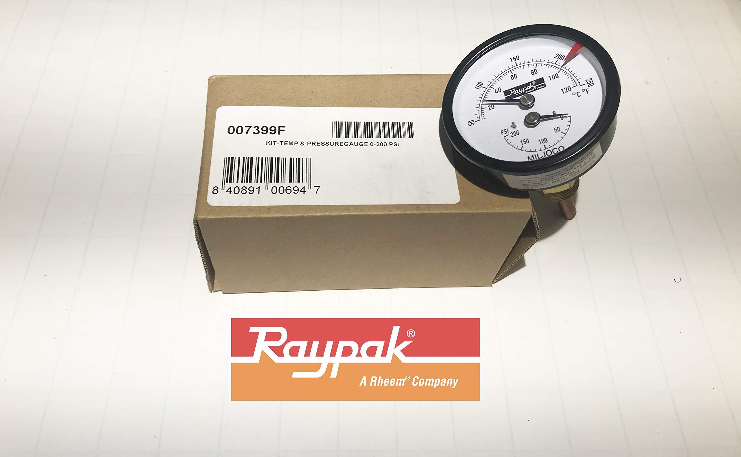 Raypak 007399F Temperature and Pressure Gauge Kit