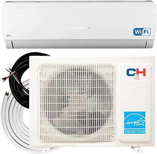 9,000 BTU, 230V Cooper /& Hunter Karolina Wi-Fi Energy Star Ductless Mini Split Air Conditioner up to 27 SEER
