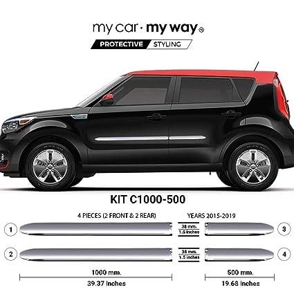 Kia Soul Ev >> Amazon Com My Car My Way Fits Kia Soul Ev 2015 2019 Chrome Body