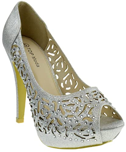 ce1c0084ea423 Amazon.com | Top Moda Comb 10 Womens Rhinestone Event Dress Sandals ...