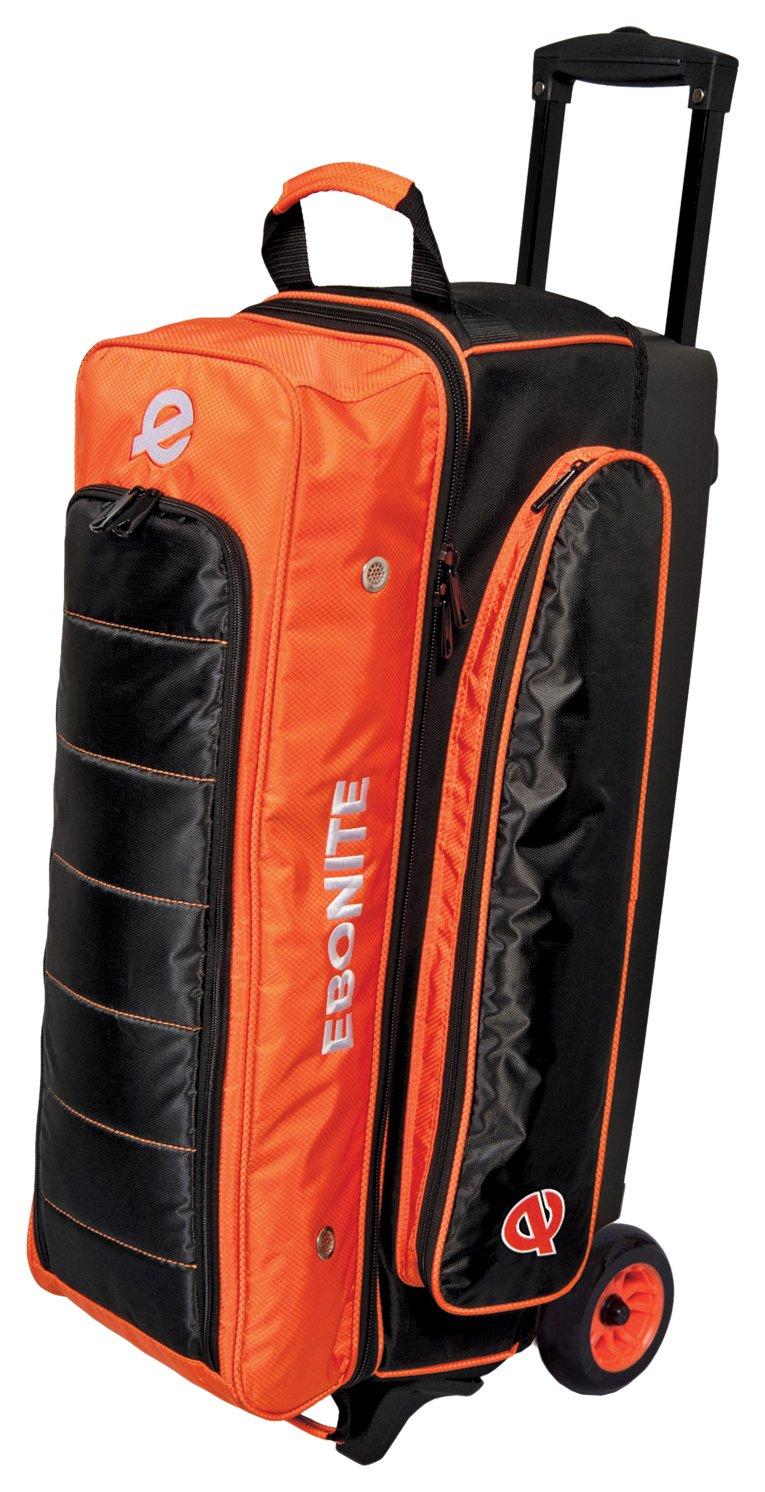 Ebonite Eclipse Triple Roller Bowling Bag, Orange