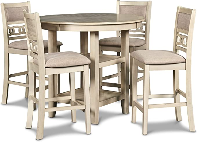 New Classic Gia Counter 5 Piece Dining Set Bisque Amazon Ca Home Kitchen