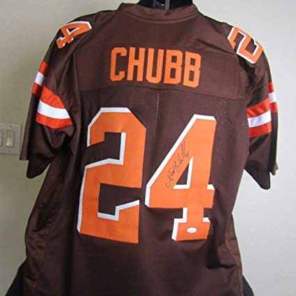 low priced 7d427 3bc3f NICK CHUBB AUTOGRAPHED SIGNED CLEVELAND BROWNS JERSEY at ...