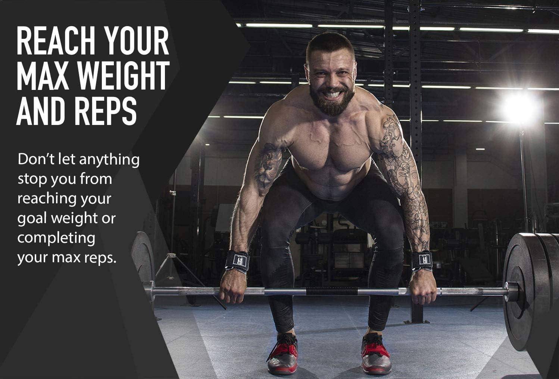 CGC gym weight lifting leather belt straps hook bar wrist brace
