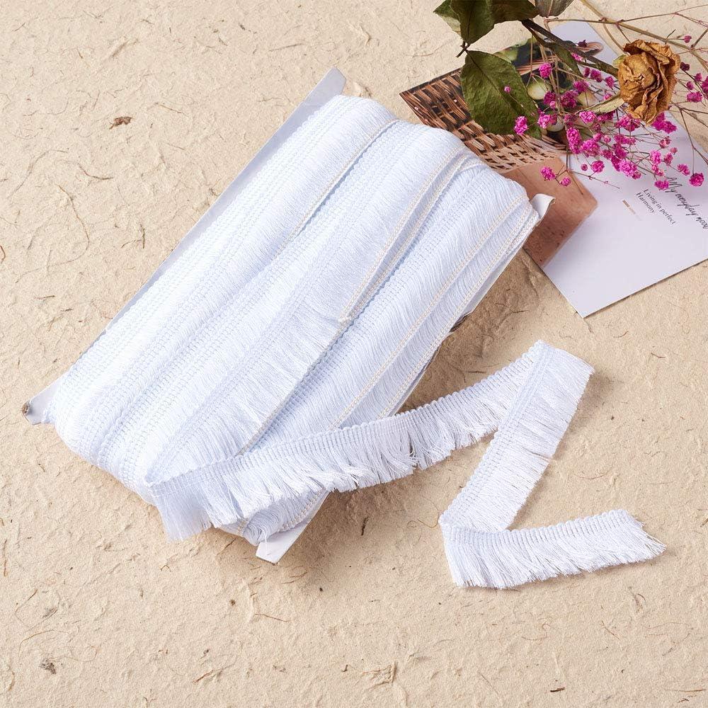 Cheriswelry Ruban de dentelle en polyester blanc /à franges pour d/écoration de v/êtements 22 m
