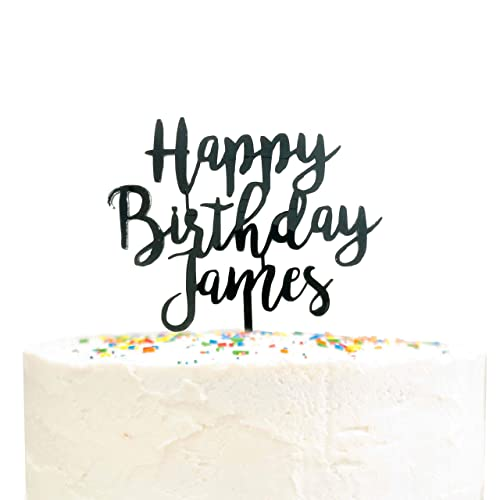 Sparkly Cake topper Cursive Font Glitter Birthday Cake Topper Custom topper Personalized Cake Topper Custom Name Birthday Cake topper
