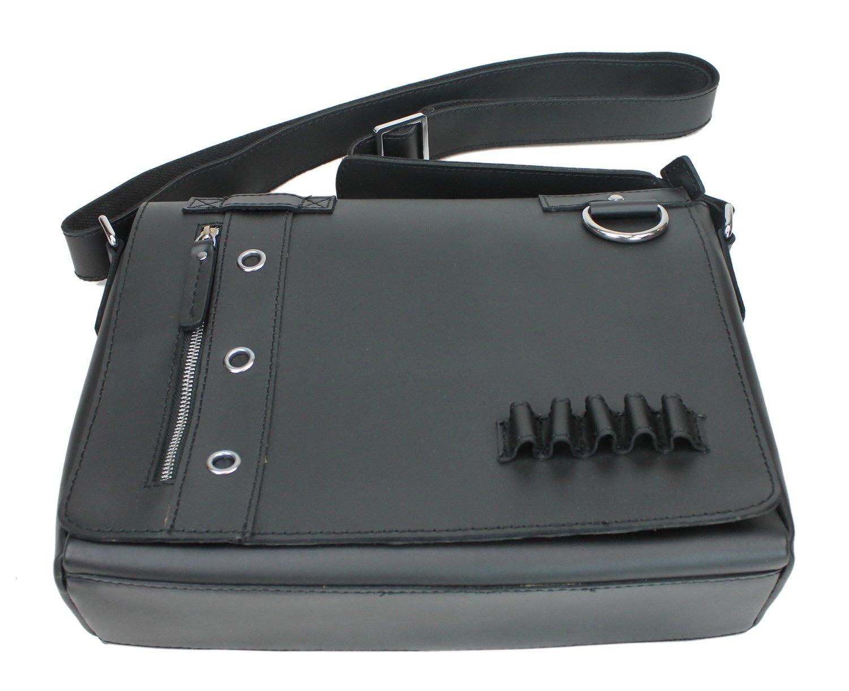 Brown Vintage Full Grain Leather Full Grain Leather Messenger Bag Asymmetrical L14