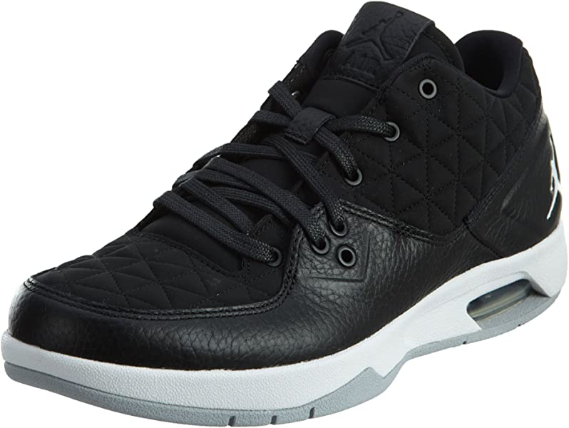 3692c6596ef7dc Amazon.com  Jordan Nike Mens Clutch Black White-Wolf Grey Leather ...