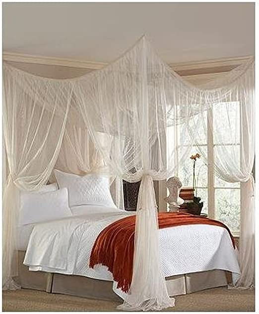 Amazon Com Majesty King Queen Bed Canopy Home Kitchen