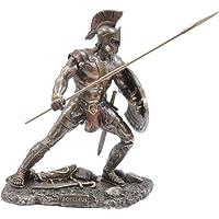 STATUA GRECA Mitologia greca di Achille Eroe/Guerriero (statua in bronzo decorativa 21 cm)