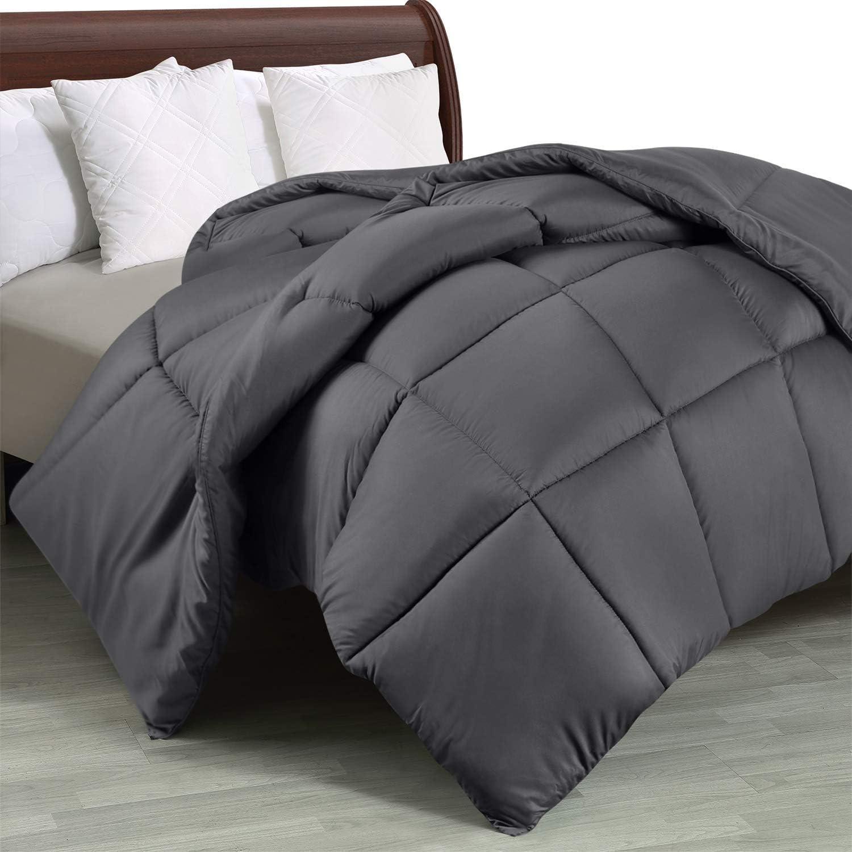 Utopia Bedding Bettdecke 135 x 200 cm - Zudecke 1000g Füllung - Gesteppte Steppdecke (Grau, 135 x 200 cm)