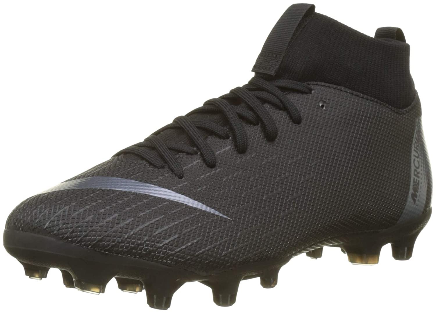 size 40 67ca0 d6ec5 Nike JR Mercurial Superfly 6 Academy GS MG Soccer Cleat (Black) (4Y)