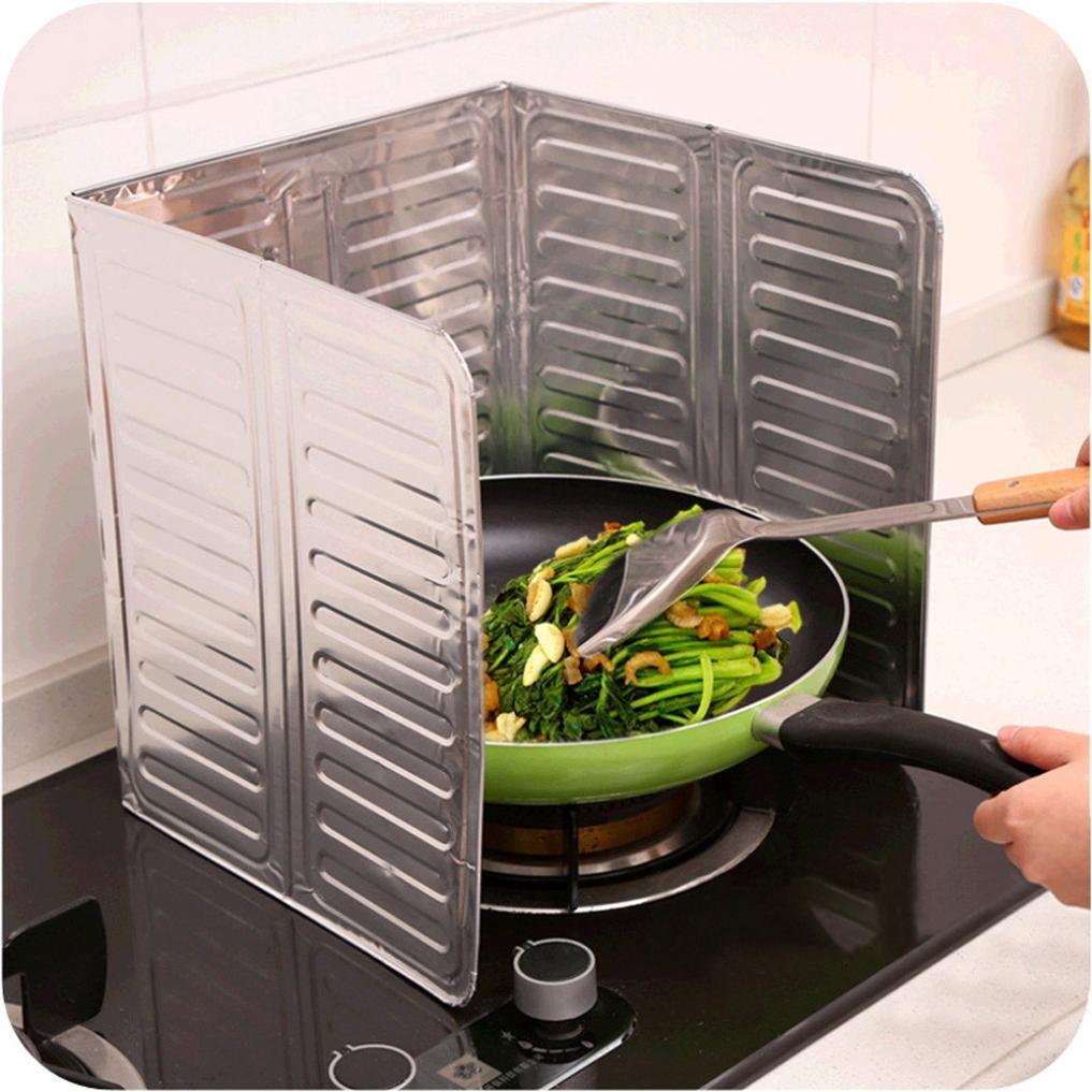 Hunpta de cuisine cuisinière Déflecteur de plaque plaque Isolation Feuille Aluminium Isolation cuisson blanc