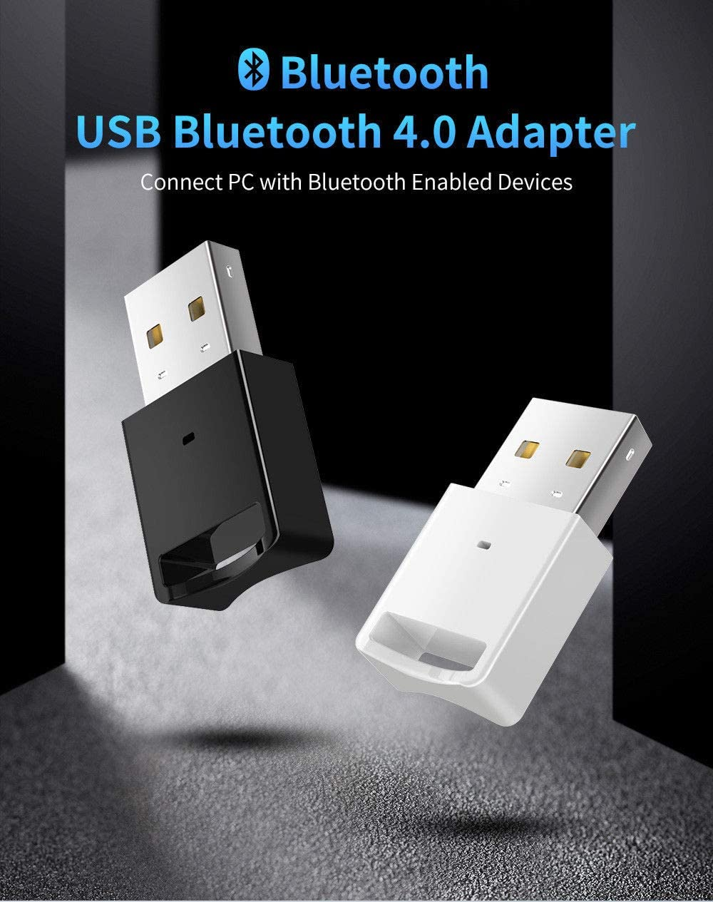 USB Bluetooth Adapter Dongle 4.2 Music Audio Receiver transmitter  for Win 10 TV
