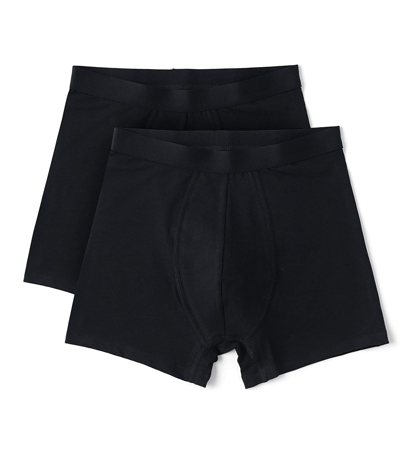 832ab938ce0c Men's 2-pack Black Organic Cotton Boxer Briefs (Black, Medium):  Amazon.co.uk: Clothing