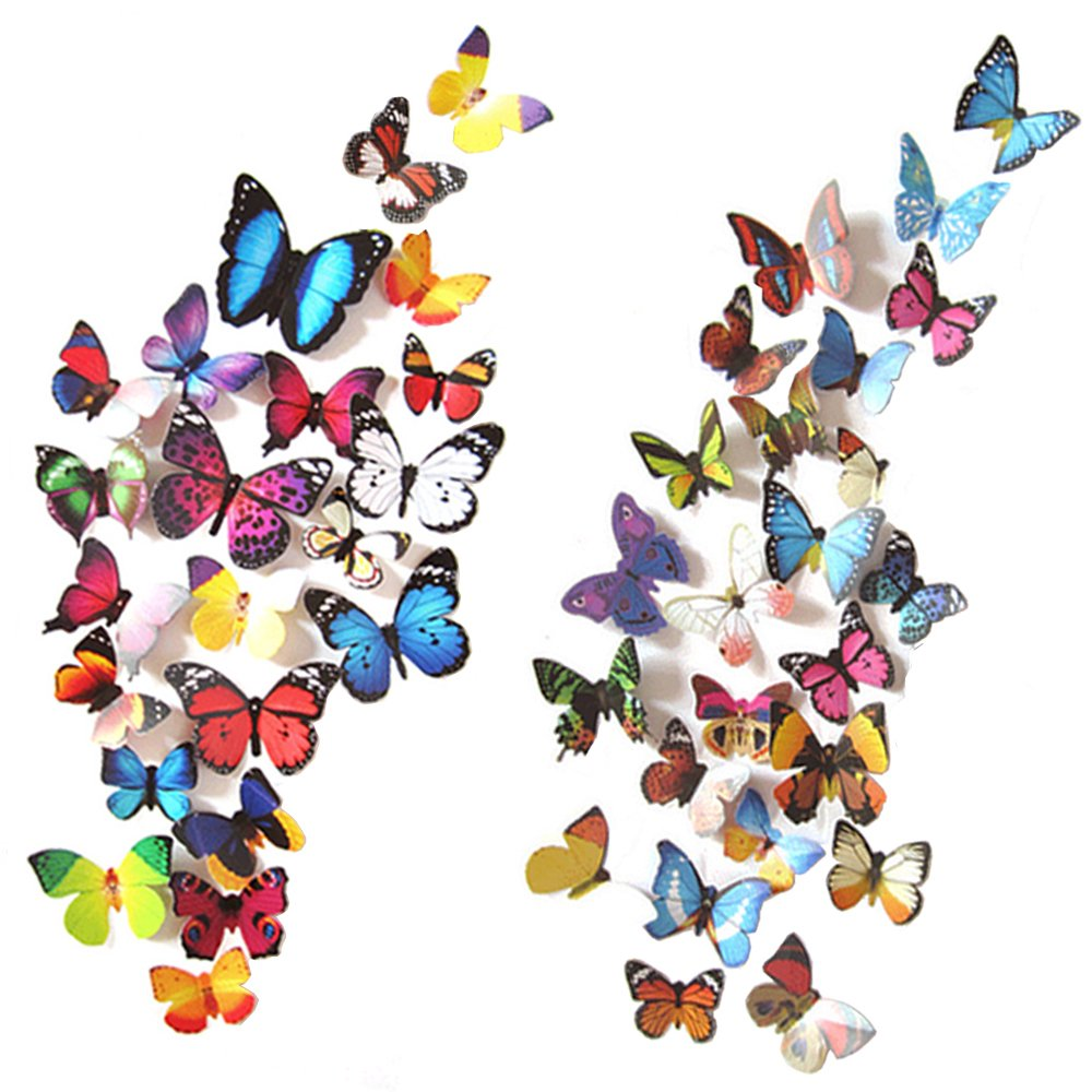 Analytical Takson Led Butterfly Decoration Light Butterfly Sticker Wall Light For Lamps, Lighting & Ceiling Fans Home & Garden