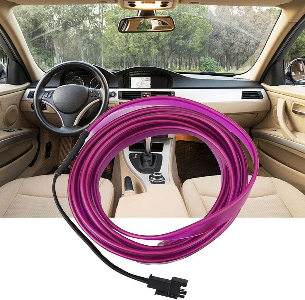5meter Duokon DC 12V Purple Light Glowing Wire Vehicle Cold Light Car Interior Decoration