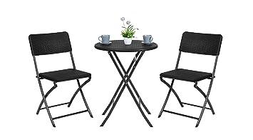 Havnyt - Juego de 2 sillas Plegables para jardín, Patio ...