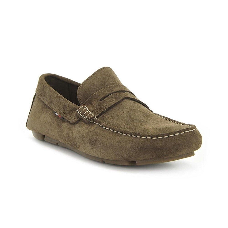 Tommy Hilfiger - Mocasines de Cuero para Hombre Verde Verde 45 EU: Amazon.es: Zapatos y complementos