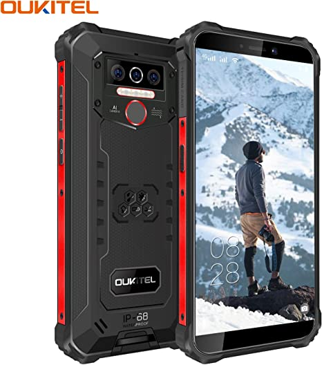 OUKITEL WP5 IP68 Móvil Libre Resistente,Telefonos Robusto Android 9.0 4G Impermeable Smartphone, 8000mAh Batería Rugged Móvil,4+32GB,5.5 HD+ (Gorilla Glass),Triple Cámara,4 LED Flash (Negro): Amazon.es: Electrónica