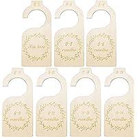 7 Piezas Separadores para Armario de Bebé Organizadores Divisores de Guardarropas Separadores de Armario de Madera…