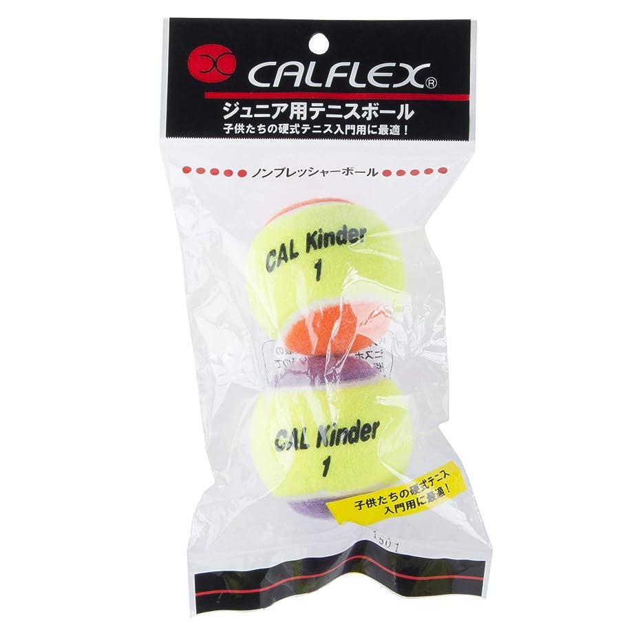 粗い死ぬ法的サクライ貿易(SAKURAI) CALFLEX(カルフレックス) テニス ソフトテニス ボール セーフティバルブ 2球入り ホワイト×ブルー CLB-402WHBL
