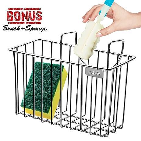 Amazon.com: Sponge Holder, Sink Organizer Kitchen Caddy Sink ...