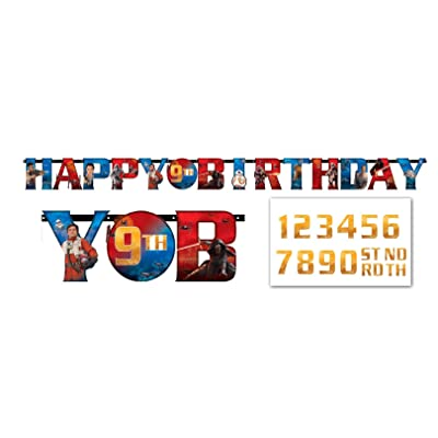 "Star Wars Episode VII Jumbo Add an Age ""Happy Birthday"" Letter Banner: Kitchen & Dining"
