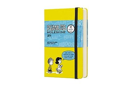 Moleskine DPE12DC2Y19 - Diario 12m de edición limitada Peanuts de bolsillo, color amarillo