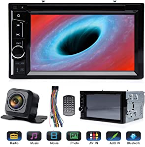 """Double Din Car Radio CD DVD Player with Reverse Cam, Support Touchscreen 6.2"""" Bluetooth Mirrorlink Steering Wheel Control Aux Input for Ford F150 F250 F350 F450 F550 2004-2016 Super Duty"""