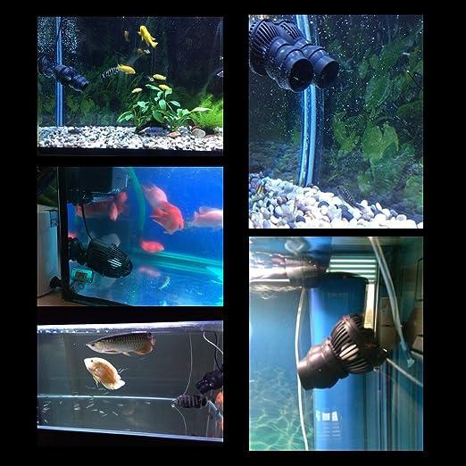 12W Acuario Bomba Acuario Eje De La Bomba De Circulación De La Bomba De Flujo WaveMaker 6000 L/h 21351A: Amazon.es: Jardín