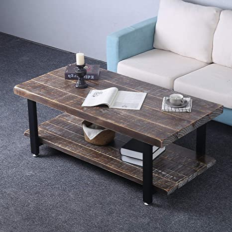Industrial Rustic Coffee Table Sets 6