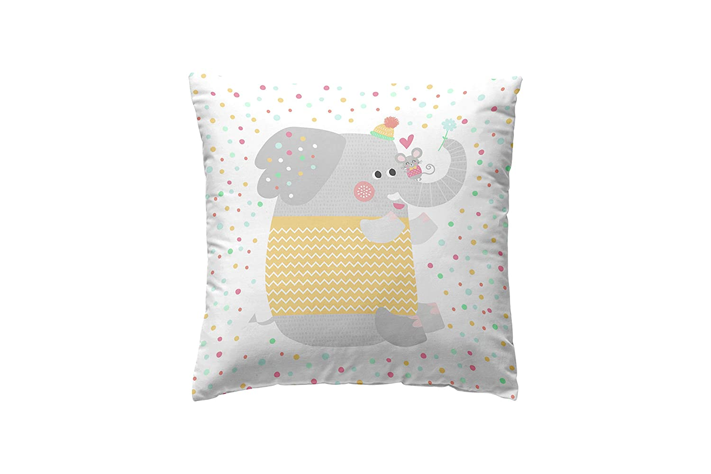 Lindo Conjunto de Jirafa Elefante Cebra Tortuga ni/ños guarder/ía beb/é tem/ática de Dibujos Animados c impresi/ón Multi Xukmefat Animal Throw Pillow Coj/ín