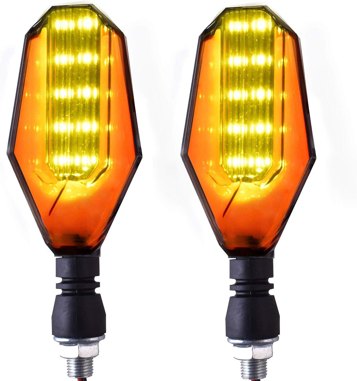 Blue SGTTX 2pcs 12V Motorcycle Turning Light,Motorbike Turn Signal Indicator Blinker Amber Light Dual Color 12 LED Red Lamp for Yamaha Honda Suzuki Kawasaki