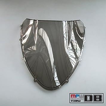 MPW Double Bubble Black Windshield Screen Ducati 1098//848