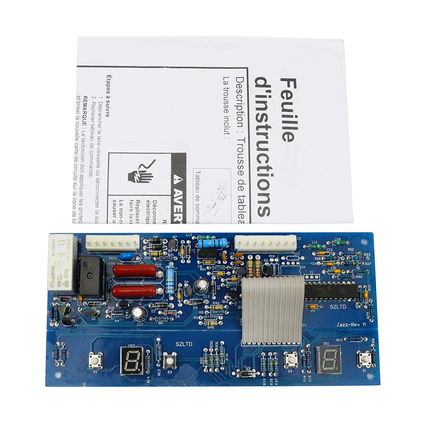 NEW Refrigerator Control Board Replacement for Whirlpool Maytag W10503278, 12784415, 12868513, AP6022400, PS11755733, W10165748