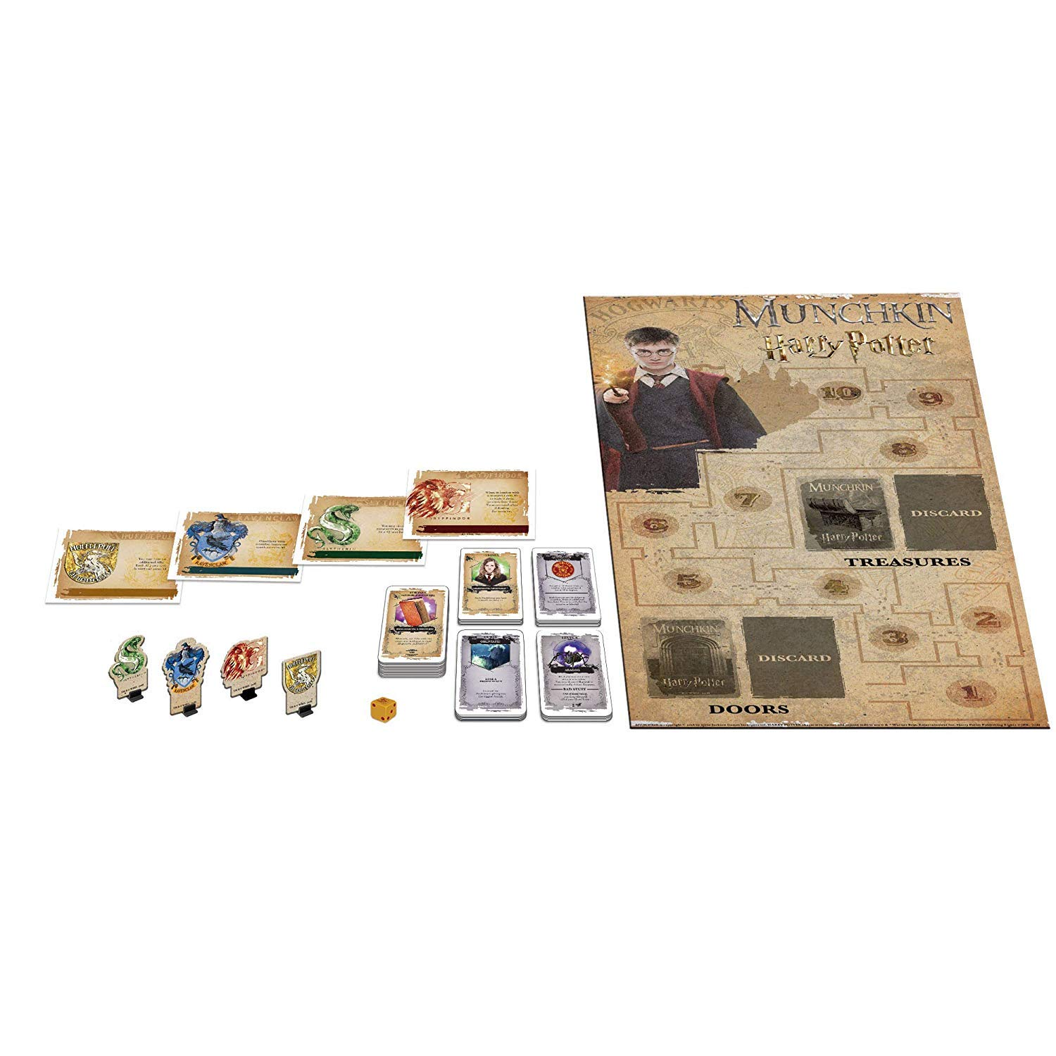 USAopoly Munchkin Deluxe Harry Potter Card Board Game Juego ...