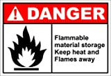 Flammable Material Storage Danger OSHA ANSI Label