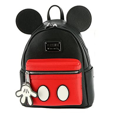 52d2512fa26 Loungefly Mickey Mouse Faux Leather Mini Backpack Standard