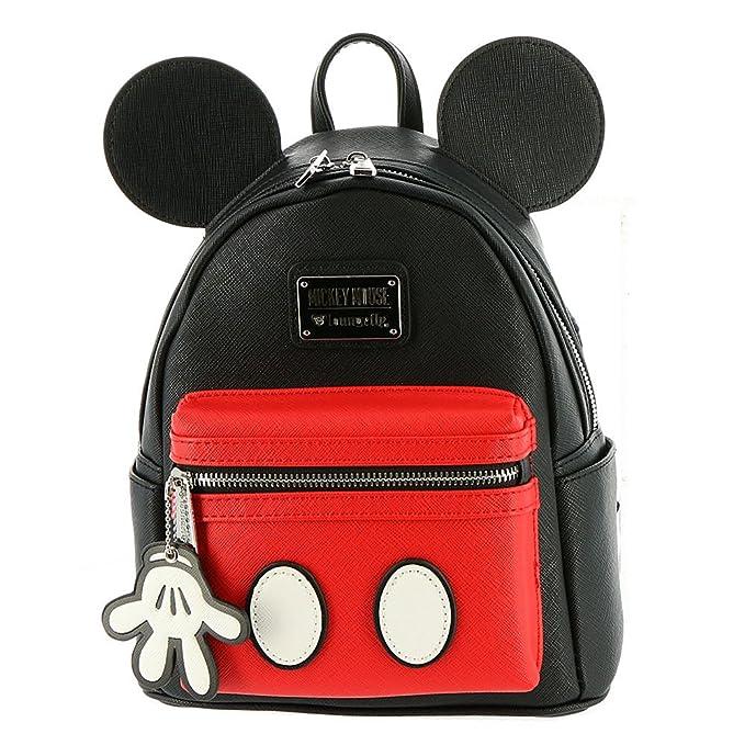 Loungefly Disney - Mochila de Mickey Mouse piel tipo Saffiano: Amazon.es: Ropa y accesorios