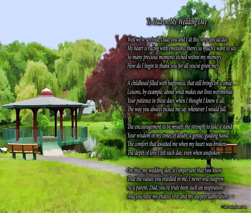 To Dad On My Wedding Day - Poem Print (8x10)
