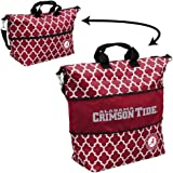 Logo Brands Collegiate Patterned Expandable Zippered Tote Detachable Cross-Body Strap