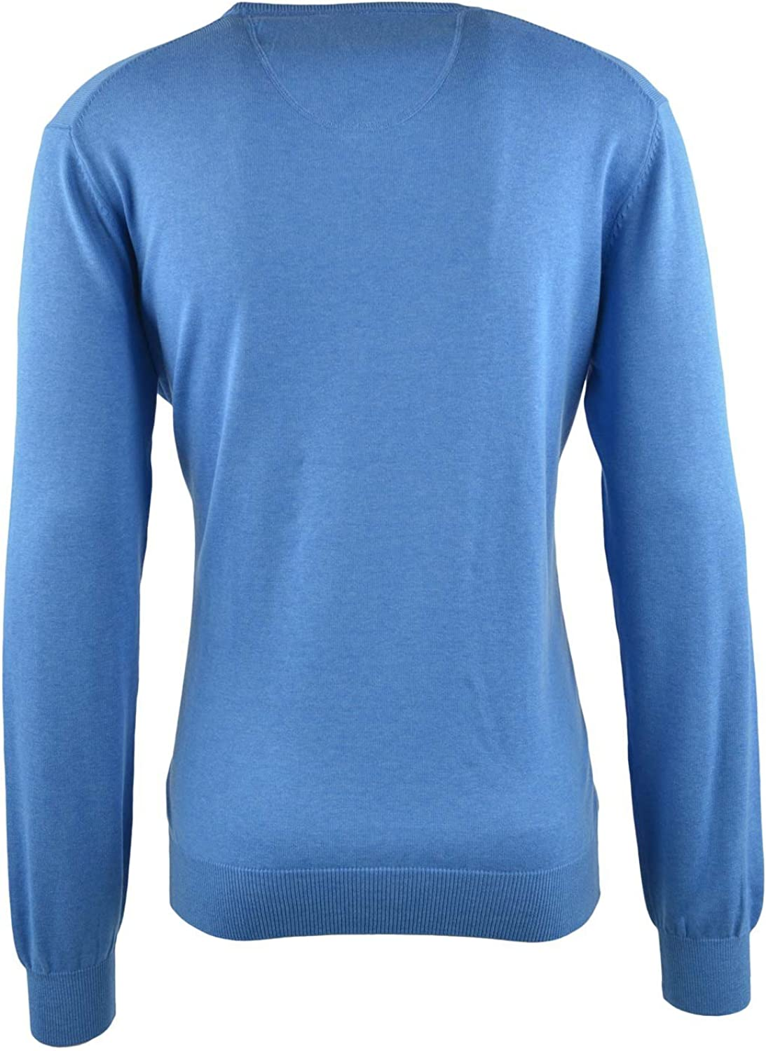 FYNCH-HATTON Herren V-Neck Pullover Blau (Horizon 611)