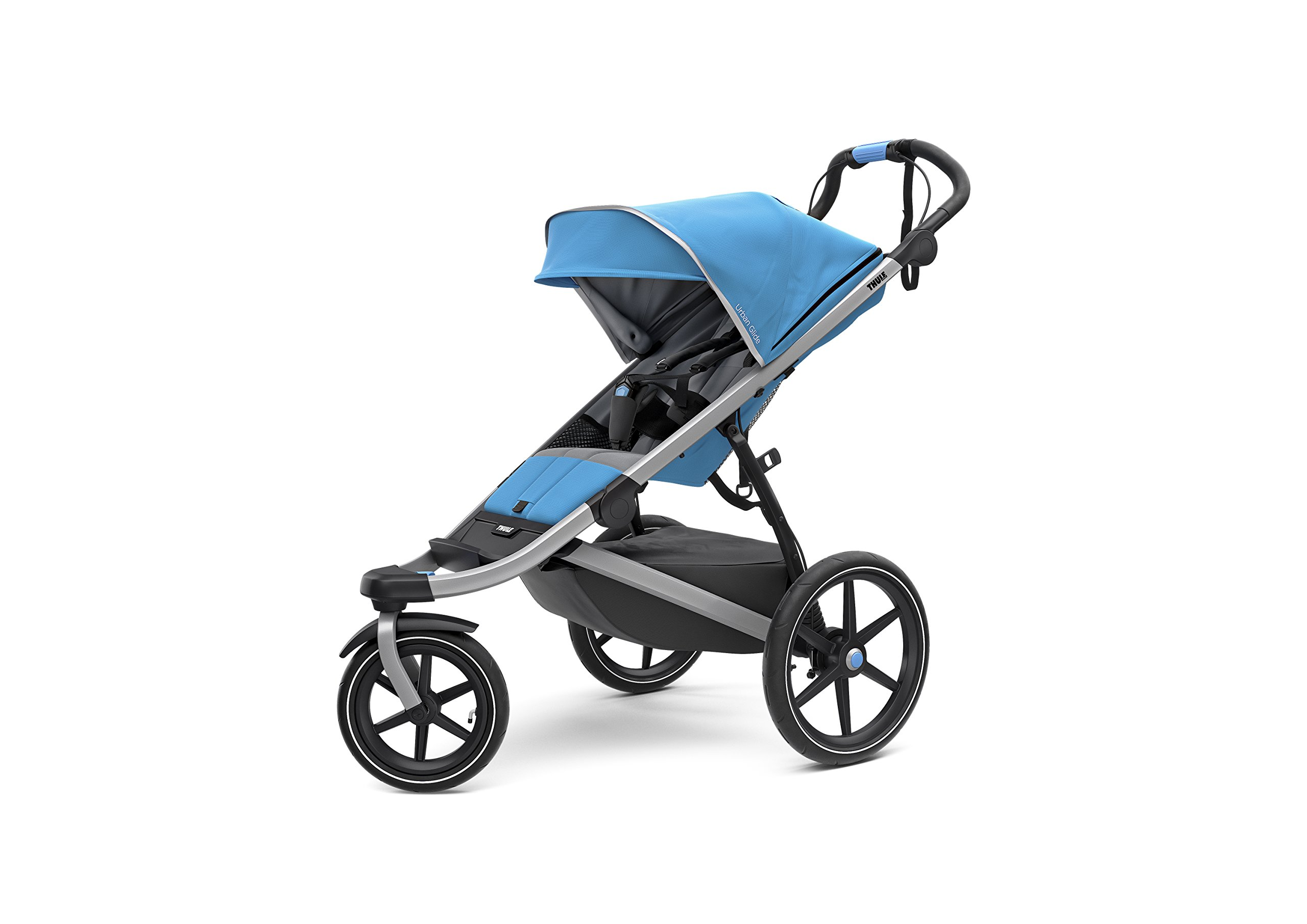 Image of the Thule Urban Glide 2.0 Jogging Stroller (Thule Blue w/ Silver Frame)