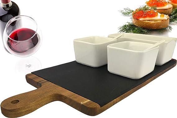 16.25 x 1.75 Creative Brands Table Sugar Ceramic Olive Boat Server Charcuterie You Me