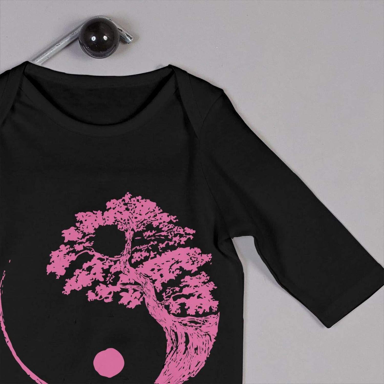 Yin Yang Bonsai Tree Newborn Kids Long Sleeve Romper Jumpsuit Baby Clothes Onesies