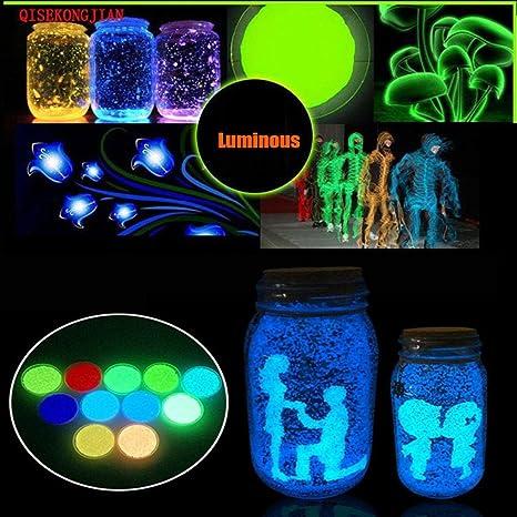 Rumas Home Decor, moderno brillante en la oscuridad luminoso arena acuario fluorescente partícula pecera tanque