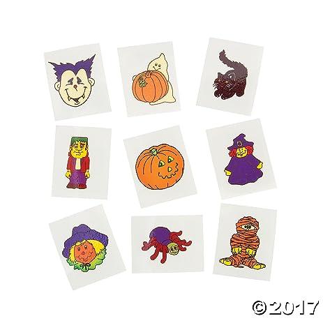 Amazon.com: Glow-In-The-Dark Halloween Tattoos (6 Dozen) - Bulk ...