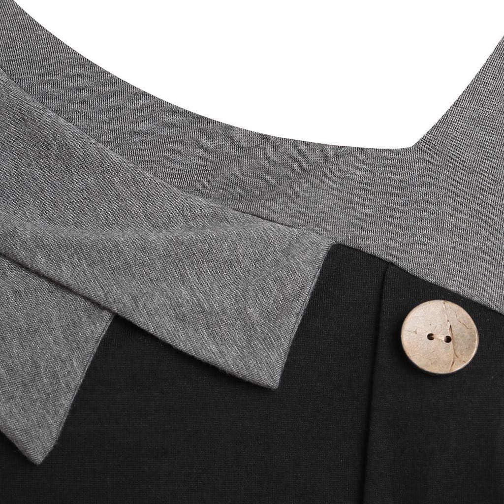 Damen /Ärmellose Oberteile//M/ädchen Asymmetrisches Tank Top//Skew Neck//Damenmode-Bluse Knopf T-Shirt f/ür Frauen